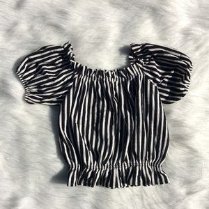 Tops - Black with white striped